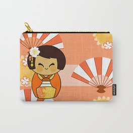 Kokeshi Momo Carry-All Pouch