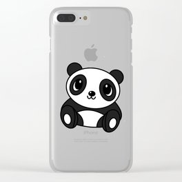 Funny Panda Clear iPhone Case