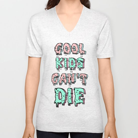 cool kids cant die Unisex V-Neck