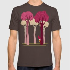 colorful forest with cute dwarf X-LARGE Brown Mens Fitted Tee