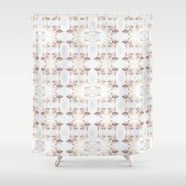 Geometric Flower Shower Curtain