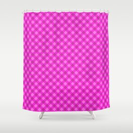 Gingham - Violet Color Shower Curtain