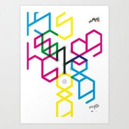 Number seven Art Print