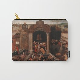 Christ Driving the Traders from the Temple, Pieter Bruegel the Elder Carry-All Pouch