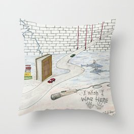 I Wish I Was Here Throw Pillow
