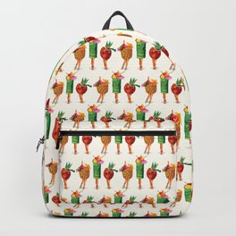 Tiki Cocktail Pin-Ups Backpack
