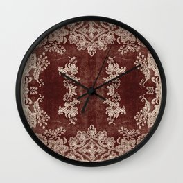Vintage Lace Rug Pattern Wall Clock