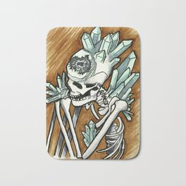 Geode skeleton covered in crystals Bath Mat