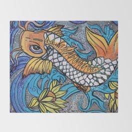 Glitter Fish Throw Blanket