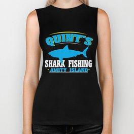 Quint's shark fishing amity island Biker Tank
