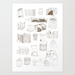 Cover, Contain, COMPOST- 1 of 3 Art Print