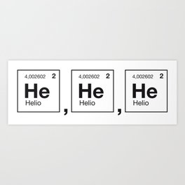 physical laughter Art Print