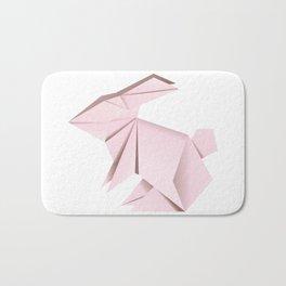 Pink origami bunny Bath Mat