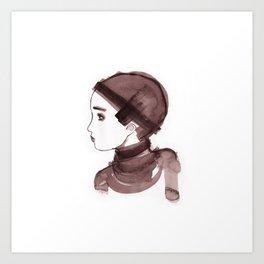 Girl ink 01 Art Print