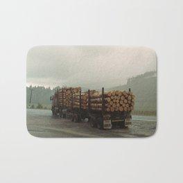 Loggers in the Rain Bath Mat