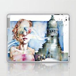Portrait with Buildings. Laptop & iPad Skin