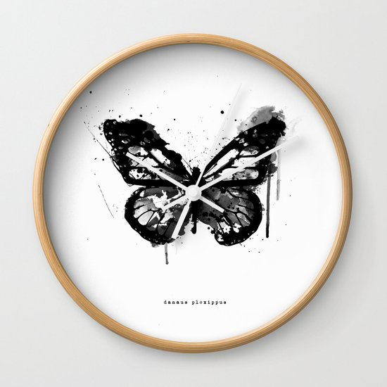 Black Monarch Wall Clock