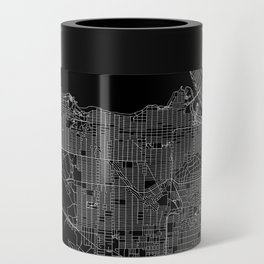 Vancouver Black Map Can Cooler