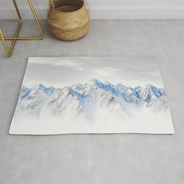 Snow Capped Mountains Rug