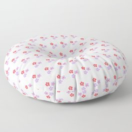 Hand painted red violet watercolor floral pattern Floor Pillow