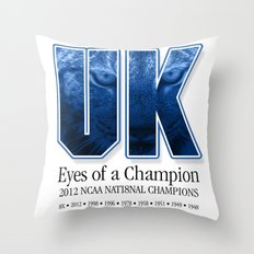 Eyes of a Champion Throw Pillow