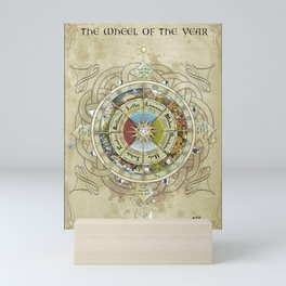 The wheel of the year Mini Art Print