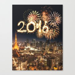 2016 new year in tokyo Canvas Print