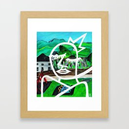 King of Seagulls - Impressionist Abstract painting Framed Art Print