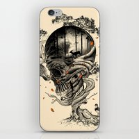 forest iPhone & iPod Skins featuring Lost Translation by nicebleed