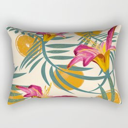 Plants Flowers and Your Orange Fruit Light Rectangular Pillow