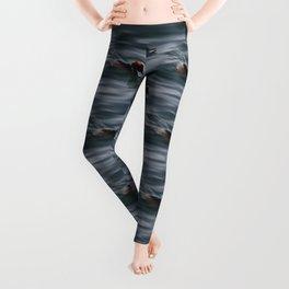 Horned Grebes pattern Leggings