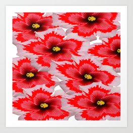 A Garden of Blossoms in Red Art Print