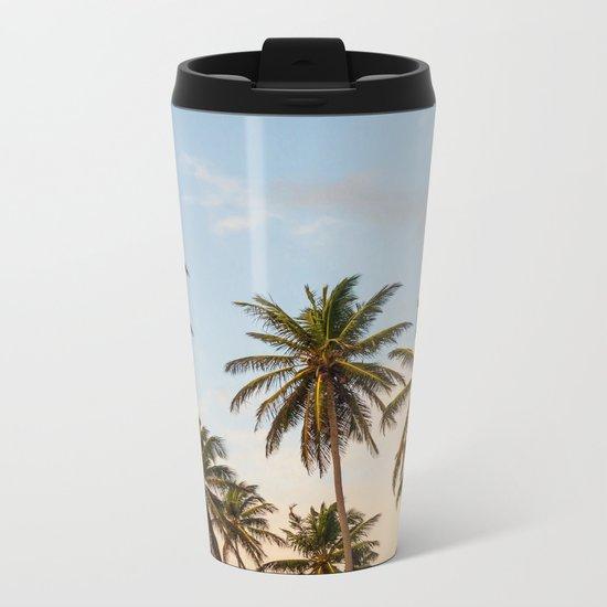 Chilling Palm Trees Metal Travel Mug