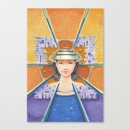 Portrait with chromed Non La Canvas Print