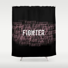 Fighter (On Black) Shower Curtain