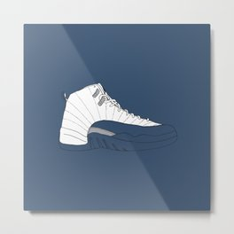 Jordan 12 French Blue Metal Print