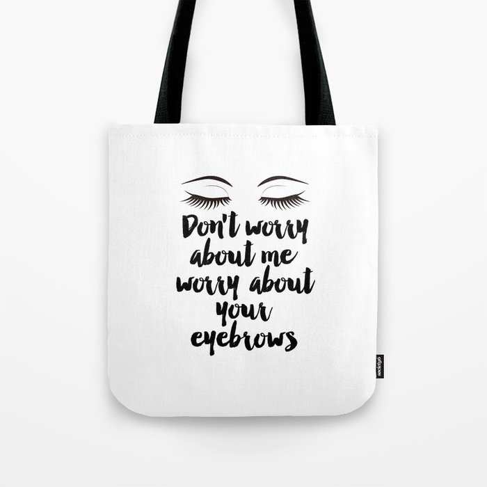 picture about Printable Room Decor named Elegance Space Decor,Eyebrows upon Fleek, Make-up Printable, Splendor Printable,Eyelash Print, Make-up Tote Bag as a result of micheltypography