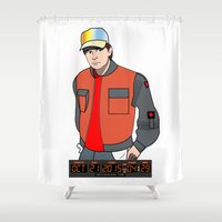 marty mcfly Shower Curtains featuring Marty McFly by Pendientera
