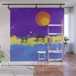 Heart and horses Wall Mural