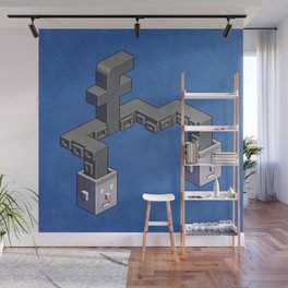 The powerful tentacles of Facebook — pixel art Wall Mural