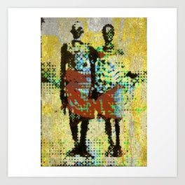 Aged couple Art Print