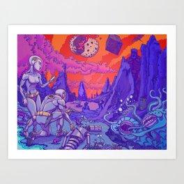 Welcome to Planet Satan Art Print