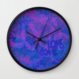 bluelove, variation on redlove Wall Clock