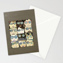 Glasses Horizontal Stationery Cards