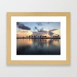 Lagoon Sunrise Framed Art Print