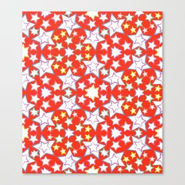 seamless pattern with stars Canvas Print