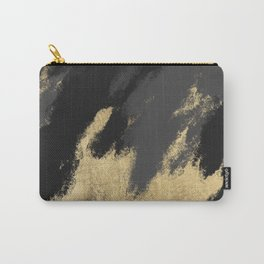 Modern chic gold black gray abstract watercolor Carry-All Pouch