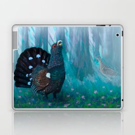 Capercaillie lek in spring Laptop & iPad Skin