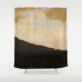Paesaggio - Landscape by Giuseppe de Nittis - Italian Fine Art Oil Painting Shower Curtain