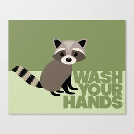 Kids' Bathroom - Wash Your Hands Canvas Print